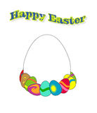 Easter eggs. Colorful easter eggs with the text Royalty Free Stock Images