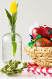 Colorful Easter eggs, traditional decoration for this spring holiday Royalty Free Stock Images