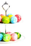 Colorful Easter eggs in a vase. Stock Image