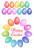 Colorful easter eggs, vector set Royalty Free Stock Photo