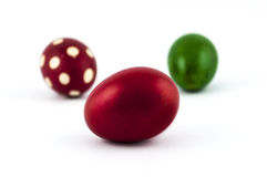 Colorful Easter eggs. On a white background royalty free stock images