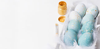 Colorful easter eggs on white background Royalty Free Stock Images