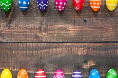 Eggs on the table Stock Photography