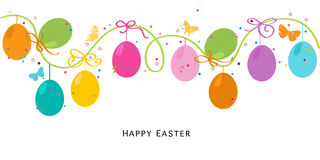 Colorful Easter Egss border design vector Stock Photography