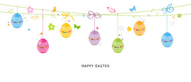 Colorful Easter Egss border design vector Royalty Free Stock Photography