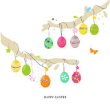 Colorful Easter Egss border design vector Royalty Free Stock Images