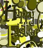 Colorful Easter greeting card Royalty Free Stock Images
