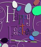 Colorful Easter greeting card Stock Image
