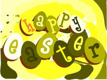 Colorful Easter greeting card Stock Photo