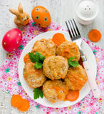 Colorful Easter holiday menu recipe Royalty Free Stock Photo