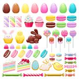 Colorful Easter Icons Set Vector Illustration. Stock Images