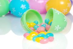 Colorful Easter Jelly Beans Spilling Stock Image