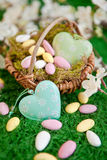 Colorful easter nest Royalty Free Stock Photography