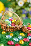 Colorful easter nests Royalty Free Stock Photo
