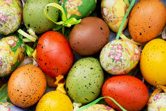 Colorful easter painted eggs Royalty Free Stock Photos