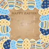 Colorful Easter paper eggs Royalty Free Stock Images