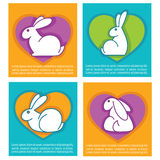 Colorful easter rabbits Stock Photos