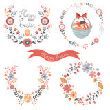 Colorful Easter related elements collection Stock Photos