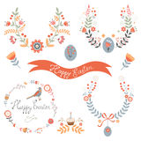 Colorful Easter related elements collection Royalty Free Stock Image