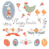 Colorful Easter related elements collection Royalty Free Stock Photo