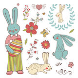 Colorful Easter related elements collection Royalty Free Stock Photography