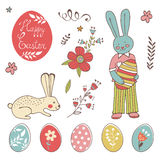 Colorful Easter related elements collection Stock Photography