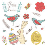 Colorful Easter related elements collection Stock Images