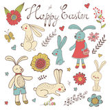 Colorful Easter related elements collection Stock Image