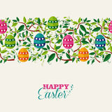 Colorful Easter seamless pattern banner Stock Photos