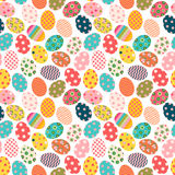 Colorful Easter seamless pattern with painted eggs Royalty Free Stock Photo