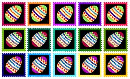 Colorful easter stamps Royalty Free Stock Images