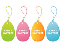 Colorful easter tags Royalty Free Stock Images