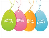 Colorful easter tags Stock Photo