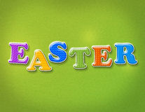 Colorful Easter Theme Letters Stock Images