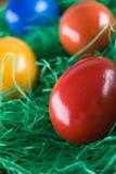 Colorful eastereggs Stock Photos