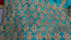 Colorful Eastern Decorated Fabric on the Market Royalty Free Stock Photography