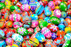 Colorful eastern eggs Stock Photography