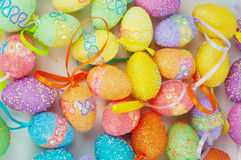Colorful eastern eggs Stock Photo