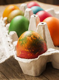 Colorful eastern eggs Royalty Free Stock Photo