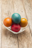 Colorful eastern eggs Stock Photos