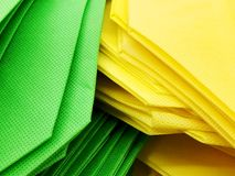 Colorful eco-friendly bags, for filling mainly with products. Colorful eco-friendly bags, for filling mainly with products Stock Photography
