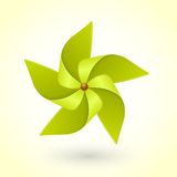 Colorful eco green pinwheel Stock Images