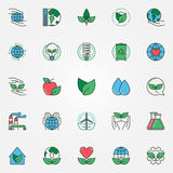 Colorful eco icons set Royalty Free Stock Images