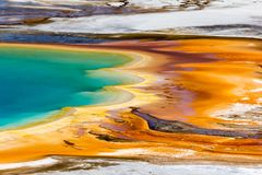 Free Colorful Edge Of Grand Prismatic Hot Spring, Yellowstone National Park Royalty Free Stock Image - 151751986