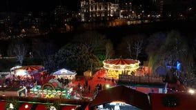 Colorful Edinburgh Christmas Market Stock Image