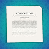 Colorful Education Background with Copy Space Royalty Free Stock Photography