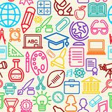 Colorful Education seamless pattern background Royalty Free Stock Images