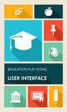 Colorful education UI apps user interface flat ico Stock Photography