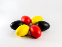 Colorful of the eegs. Six colorful of the eegs Stock Images