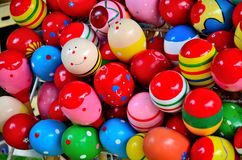 Colorful Egg. Smile , Rainbow toy egg , Polka dot egg Stock Photos